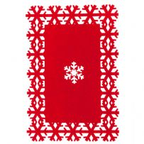 Pack of 4 Snowflake Place Mats and Coasters